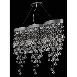 Galaxy Chrome Nine-Light Chandelier with Clear Royal Cut Crystals