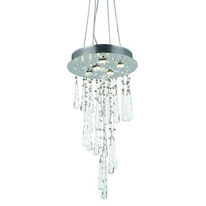 Comet Royal Cut Crystal Chrome Five Light 26-in Chandelier