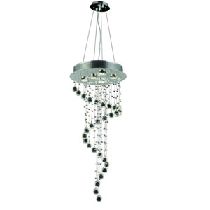 Galaxy Royal Cut Crystal Chrome Five Light 36-in Pendant