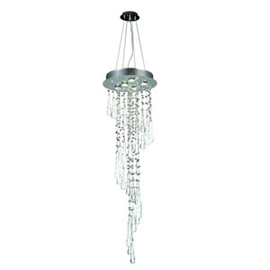 Comet Royal Cut Crystal Chrome Five Light 48-in Chandelier