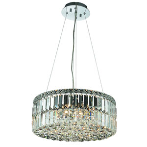 Maxim Chrome Twelve-Light 20-Inch Pendant with Royal Cut Clear Crystal