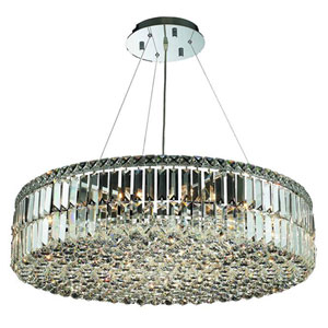 Maxim Chrome 18-Light Chandelier with Swarovski Strass/Elements Crystal