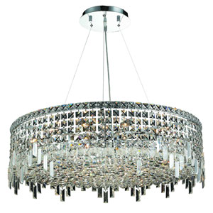 Maxim Chrome Eighteen-Light 32-Inch Pendant with Royal Cut Clear Crystal