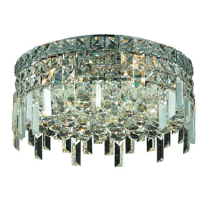 Maxim Chrome Five-Light 16-Inch Flush Mount with Royal Cut Clear Crystal