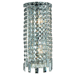 Maxim Chrome Two-Light 8-Inch Bath Fixture with Royal Cut Clear Crystal