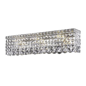Maxim Chrome Four-Light Sconce with Clear Royal Cut Crystals