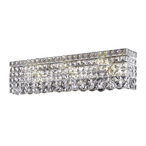 Maxim Chrome Six-Light Bath Fixture with Royal Cut Clear Crystal