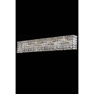 Maxim Chrome Six-Light Sconce with Clear Royal Cut Crystals