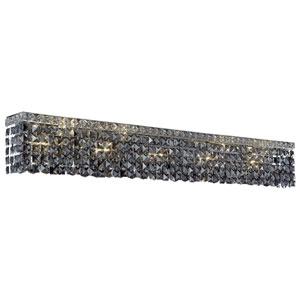 Maxim Chrome Ten-Light Bath Fixture with Royal Cut Silver Grey Crystal