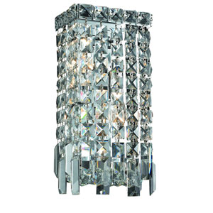 Maxim Chrome Two-Light 6-Inch Bath Fixture with Royal Cut Clear Crystal