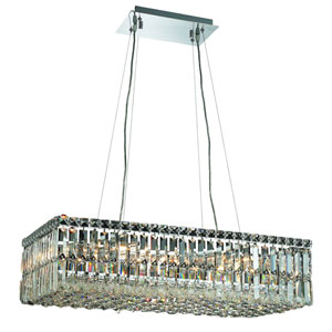 Maxim Chrome Sixteen-Light 14-Inch Pendant with Royal Cut Clear Crystal