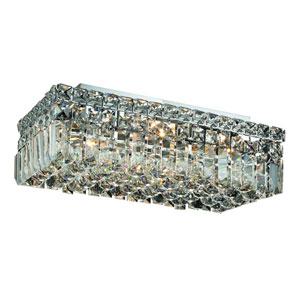 Maxim Chrome Four-Light 8-Inch Flush Mount with Royal Cut Clear Crystal
