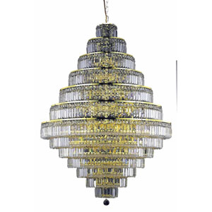 Maxim Gold Thirty-Eight Light 42-Inch Thirteen-Tier Chandelier with Royal Cut Clear Crystal