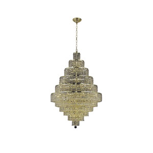 Maxim Gold Thirty-Light Chandelier with Clear Royal Cut Crystals