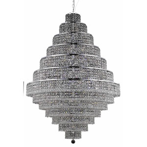 Maxim Chrome Thirty-Eight Light 42-Inch Thirteen-Tier Chandelier with Royal Cut Clear Crystal