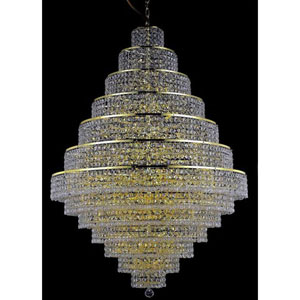 Maxim Gold Thirty-Eight Light Chandelier with Clear Royal Cut Crystals