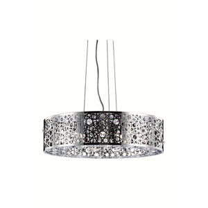 Soho Royal Cut Crystal Chrome Eight Light 7.7-in Dining Room Pendant