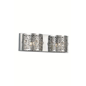 Soho Royal Cut Crystal Chrome Two Light 16-in Wall Sconce