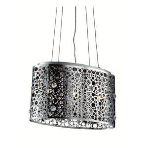 Soho Royal Cut Crystal Chrome Three Light 18-in Pendant