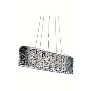 Soho Royal Cut Crystal Chrome Eight Light 46-in Dining Room Pendant