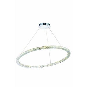 Atom Royal Cut Crystal Chrome LED 42 Light 42-in Chandelier