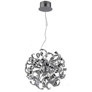 Tiffany Chrome Nine-Light Pendant with Elegant Cut Crystal