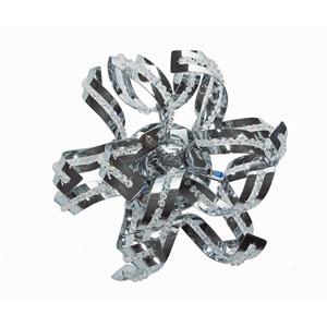 Tiffany Chrome Three-Light Flush Mount with Elegant Cut Crystal
