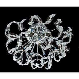 Tiffany Chrome 12-Light Flush Mount with Elegant Cut Crystal