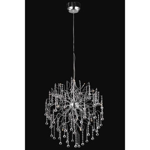 Astro Chrome Fifteen-Light Chandelier with Clear Royal Cut Crystals