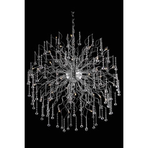 Astro Chrome Forty-Four Light Chandelier with Clear Royal Cut Crystals