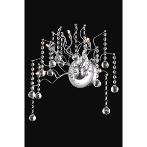 Astro Chrome Five-Light Sconce with Clear Royal Cut Crystals