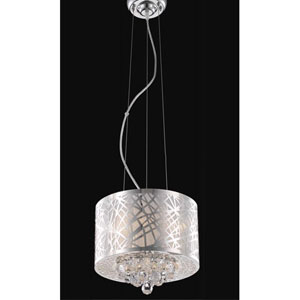 Prism Chrome Three-Light Chandelier with Clear Royal Cut Crystals
