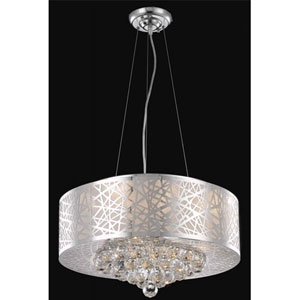 Prism Chrome Seven-Light Chandelier with Clear Royal Cut Crystals