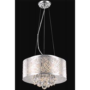 Prism Chrome Four-Light Chandelier with Clear Royal Cut Crystals