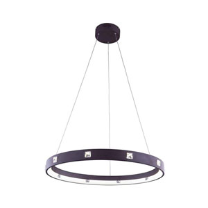 Infinity Brown 30-Inch LED Pendant with Royal Cut Crystal