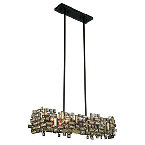 Picasso Dark Bronze 35-Inch Six-Light Pendant