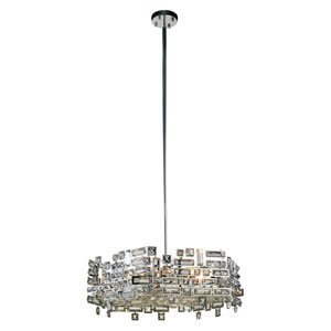 Picasso Chrome 24-Inch Six-Light Pendant with Clear Crystal