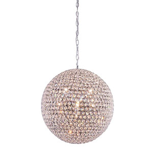 Cabaret Chrome Nine-Light Pendant with Royal Cut Crystal