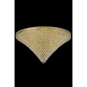 Tranquil Gold 48-Light 60-Inch Flush Mount with Royal Cut Crystal