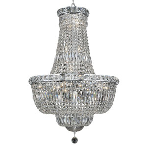 Tranquil Chrome Twenty-Two Light 22-Inch Chandelier with Royal Cut Clear Crystal