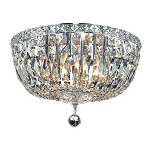 Tranquil Chrome Six-Light 16-Inch Flush Mount with Royal Cut Clear Crystal