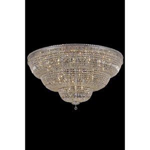 Tranquil Chrome 48-Light 60-Inch Flush Mount with Royal Cut Crystal