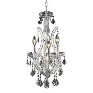Maria Theresa Chrome Four-Light 12-Inch Mini Chandelier with Royal Cut Clear Crystal