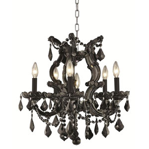 Maria Theresa Black Chandelier with Jet Black Royal Cut Crystal