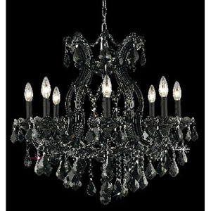 Maria Theresa Black Nine-Light Chandelier with Jet/Black Royal Cut Crystals
