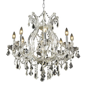 Maria Theresa Chrome Nine-Light 26-Inch Chandelier with Royal Cut Clear Crystal