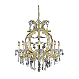 Maria Theresa Elegant Cut Crystal Gold Eight Light 32.5-in Chandelier