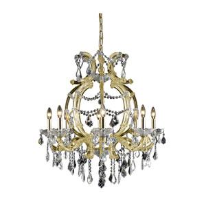 Maria Theresa Swarovski Strass Crystal Gold Eight Light 32.5-in Chandelier