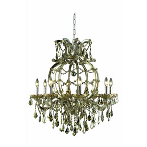 Maria Theresa Royal Cut Crystal Golden Teak Eight Light 32.5-in Chandelier