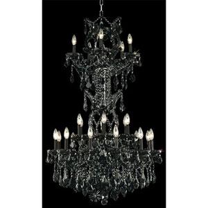 Maria Theresa Black Twenty-Five Light Chandelier with Jet/Black Royal Cut Crystals